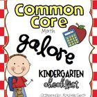 This Common Core State Standards checklist is for Kindergarten {MATH}. It's a great way to organize the Common Core and to make sure you are teachi...