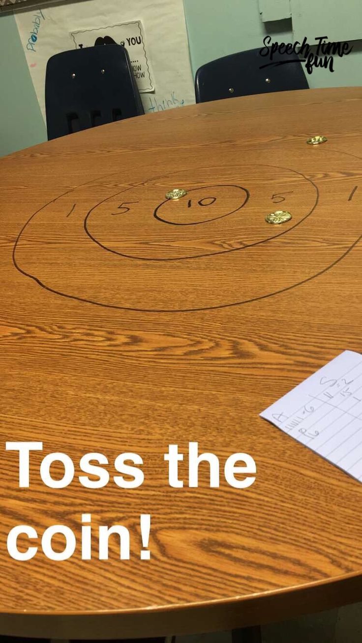 Toss the Coin - Speech Idea Using Dry Erase Markers