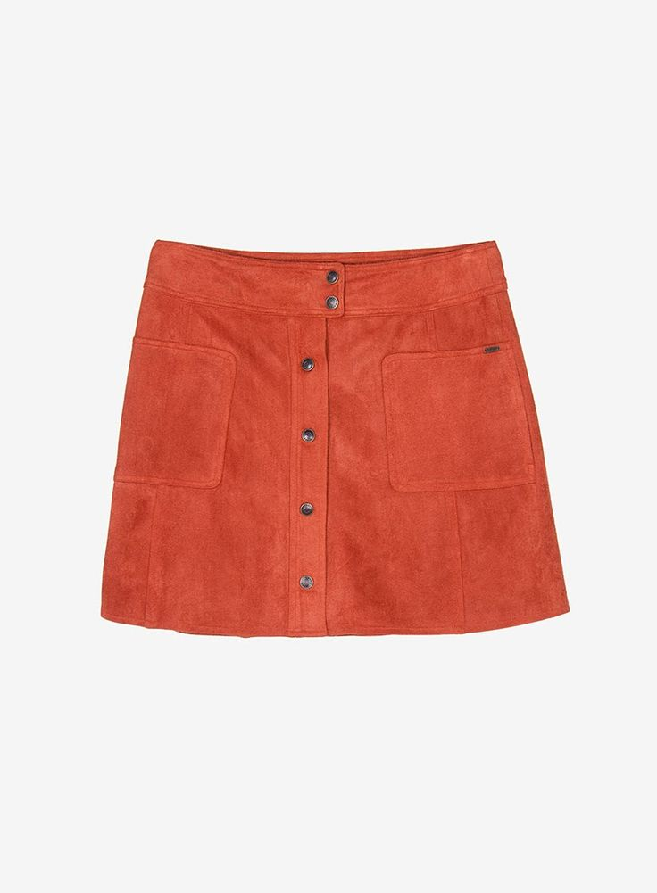 Faux suede A-line skirt #70sfeel