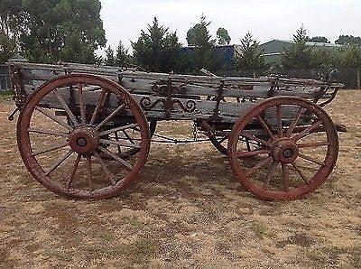Antique Old Horse Drawn Wagon , Wagon Wheel , Horse Carriage Cart Farm Hay Float