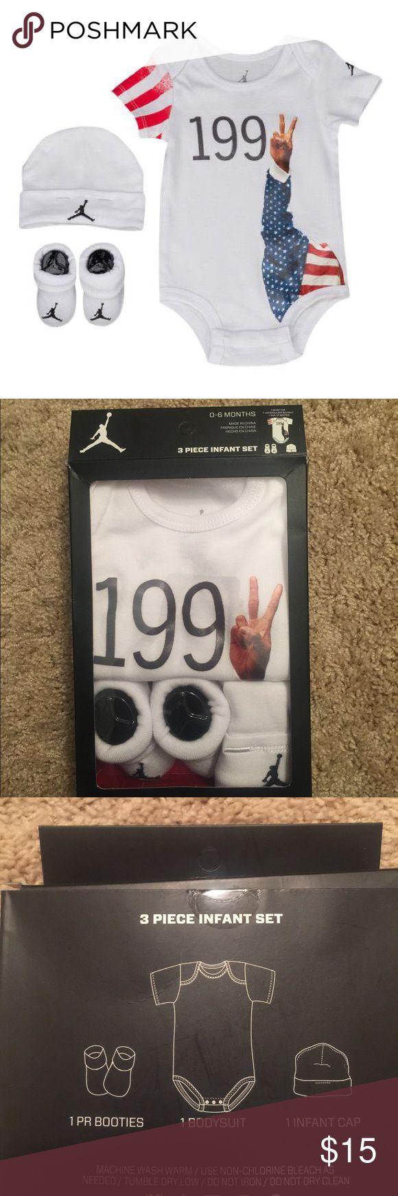 Jordan Retro Infant Set JORDAN 3 PIECE 1992 RETRO SET. Size is 0-6 months! Jordan One Pieces Bodysuits