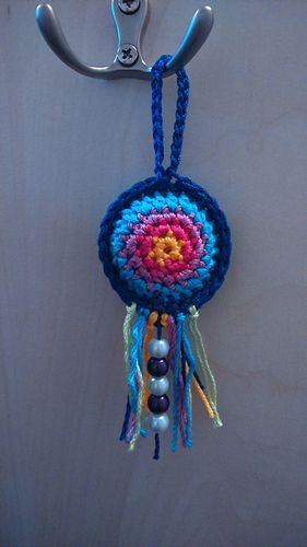 Tiny Dreamcatcher - Free crochet pattern by Renáta Oszlánczi.