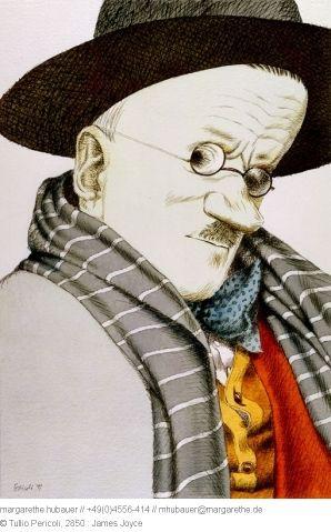1991 // 2850 : James Joyce - Tullio Pericoli