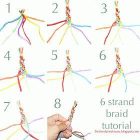 Trendy Treehouse: 6 Strand Braid Tutorial