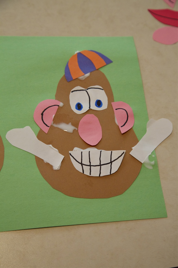 Arts and crafts for a 1 year old - Mr Potato Head 2 1 2 Year Old Class