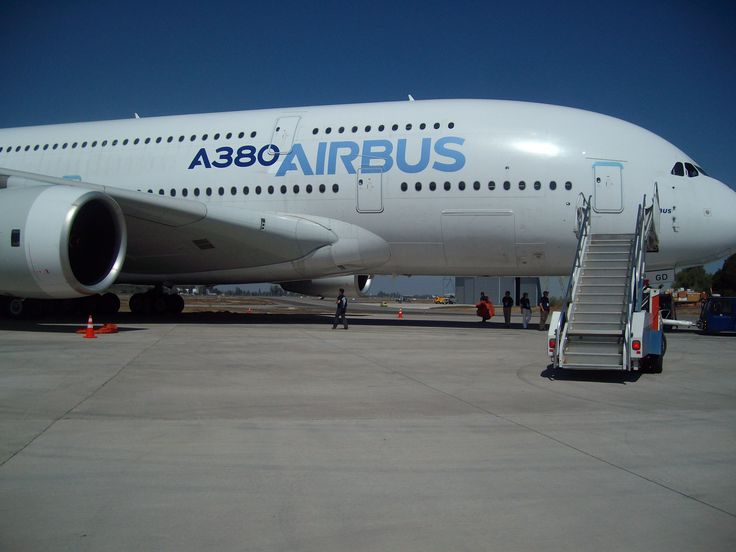 Airbus 380 for second time at International airshow Santiago of Chile