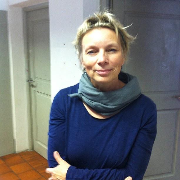 Polish illustrator Iwona Chmielewska after her workshop.