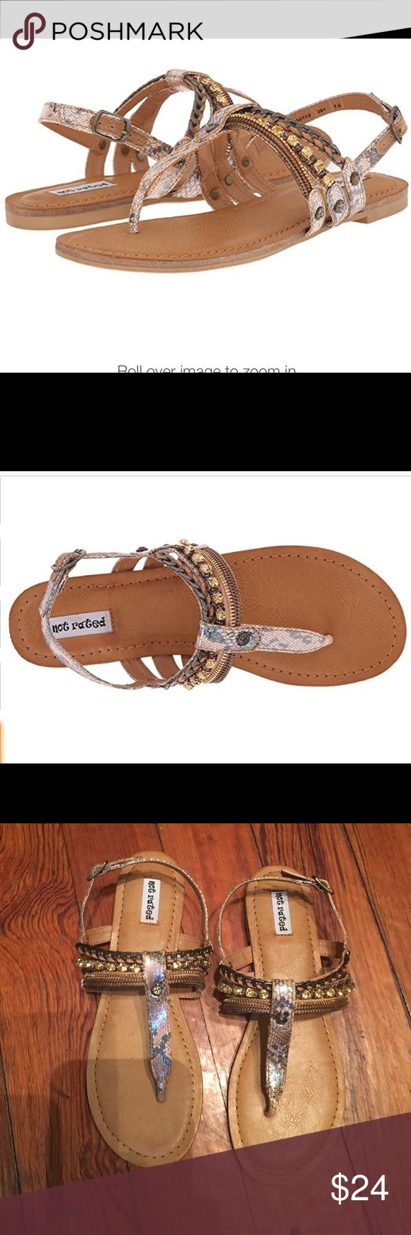 Not Rated bling sandals.  New.  Size 8 Never worn by Not Rated.  Size 8. Not Rated Shoes Sandals