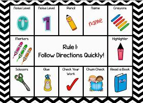 Classroom Freebies: Visual Directions Freebie