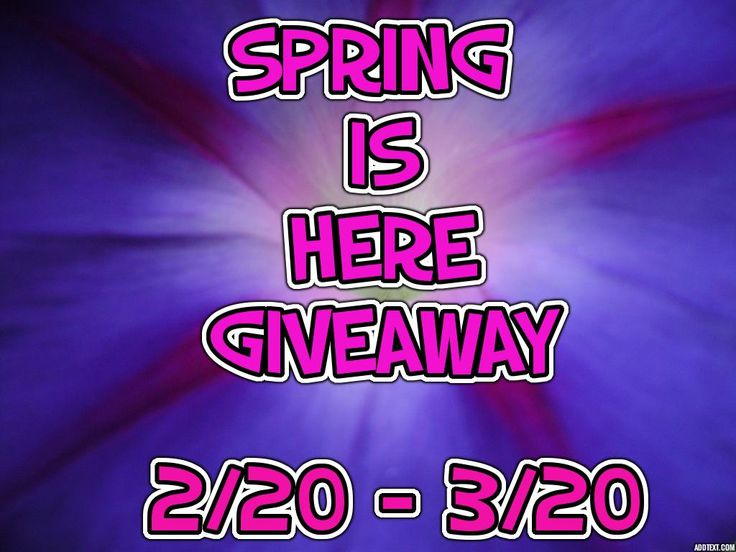 Spring Is Here #Giveaway Ends 3/20 #SIH0315 -