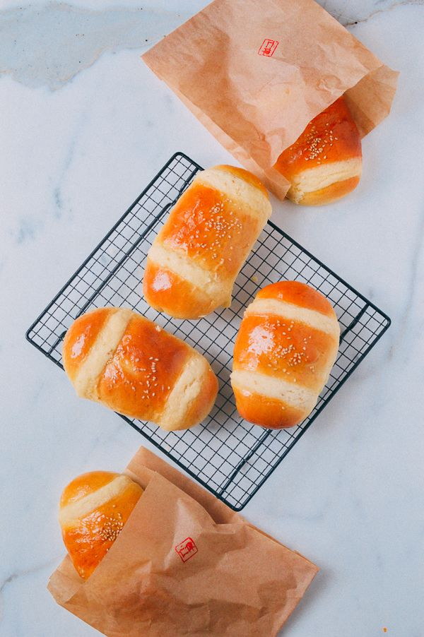 Coconut buns, or cocktail buns are a favorite at Chinese bakeries. This recipe is soft, fluffy, and authentic, while also being incredibly easy to make.