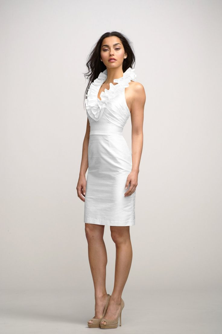 2 in 1 white dress red