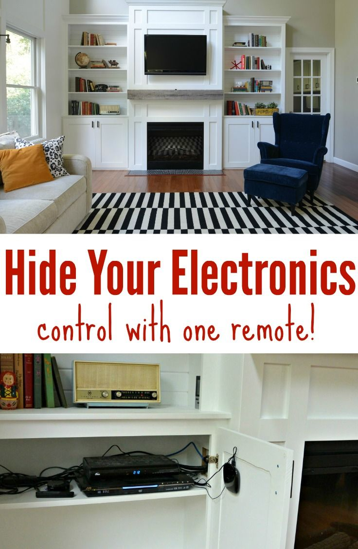 How to hide your electronics and control with 1 remote! Learn how!
