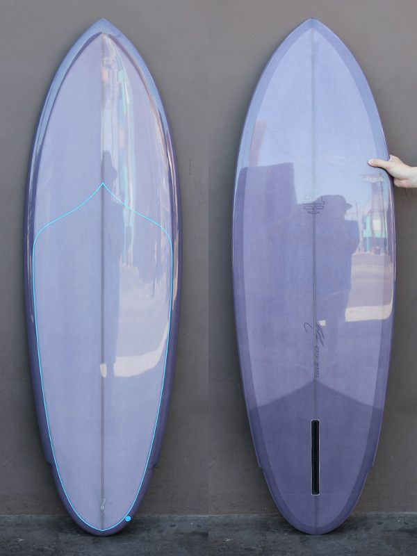 5'8 Mitsven Winged Pin Single Fin. I love this colour