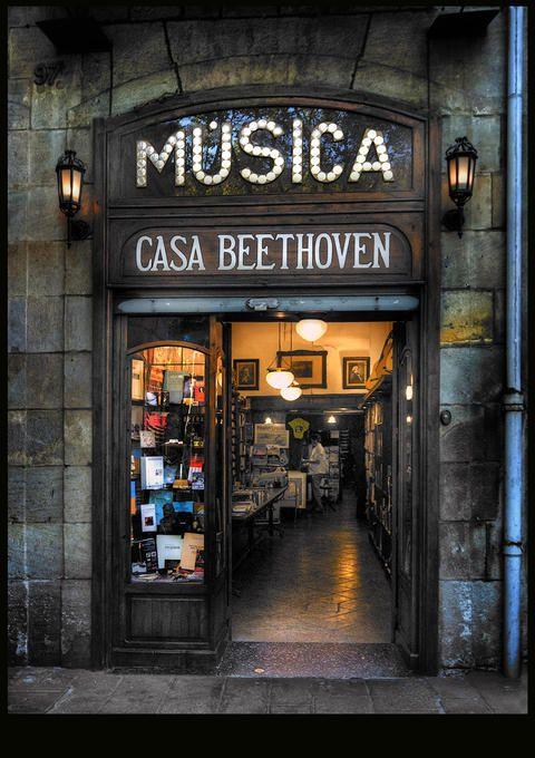 Casa Beethoven, a Les Rambles de Barcelona