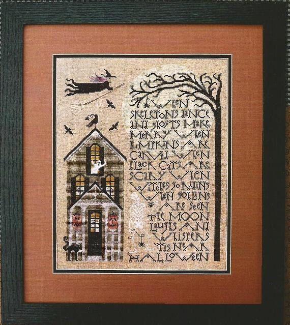 "THE DRAWN THREAD: ""When Skeletons Dance"" -- Halloween Cross Stitch Pattern, Leaflet, Chart by Cynthia Zittel"