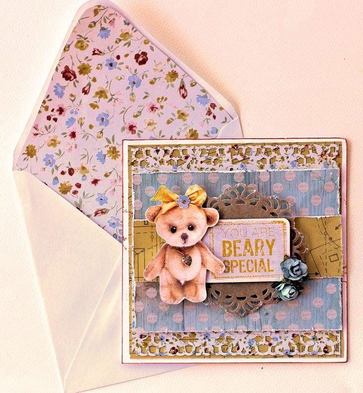 Kaisercraft Teddy Bear's Picnic - Beary Special Card