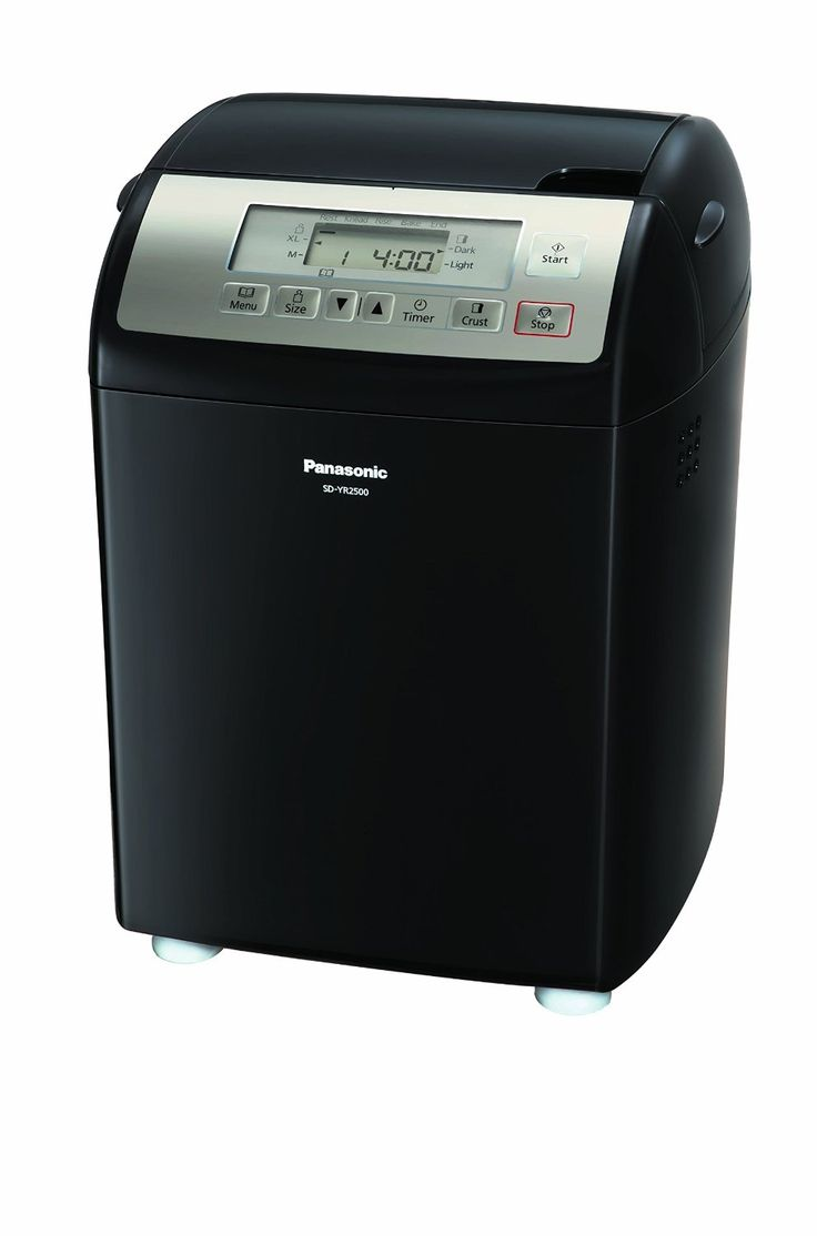 Panasonic SD-YR2500 Bread Maker with Gluten Free Mode and Yeast / Raisin / Nut Dispenser, Enjoy freshly baked bread with the push of a button Smart dispensers automatically release and distribute yeast, raisins and nuts Healthy gluten free mode, eight menu buttons, automatic 13-hour timer Choose medium or extra-large loaf size, light or dark crust settings Intuitive touch-pad controls and large LCD make bread making simple
