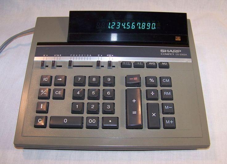 Vintage Sharp Compet CS-2302A Electric Calculator 12 Digit Adding Machine Works #Sharp #ebay #GotPicks #vintagephilly