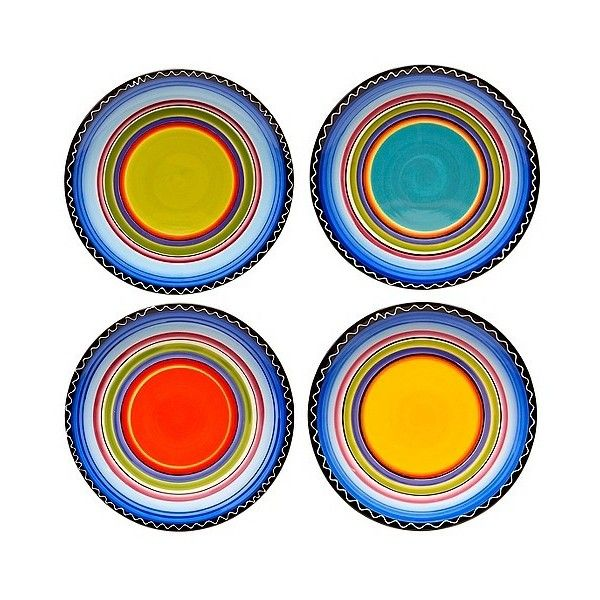 Certified International Tequila Sunrise Dinner Plate Set of (€39) ❤ liked on Polyvore featuring home, kitchen & dining, dinnerware, red, fiesta dinnerware, certified international dinnerware, striped dinnerware, southwestern dinnerware and certified international