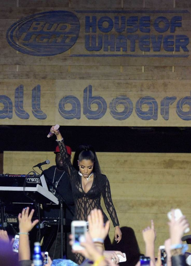 Nicki Minaj performing at the 'House of Whatever' in Phoenix over Super Bowl Weekend. #UpForWhatever