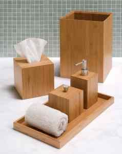 Seville Classics 5 pc Bamboo Bathroom Accessory Set. The simple and elegant look of this bamboo accessory set will complement any bathroom. Made of renewable bamboo, it features a stylish hand towel tray, a soap/lotion pump dispenser, a cotton box, a tissue cover and a waste bin. You can get this right now at http://bathroomdecor.tropicalhouseplants.net/seville-classics-5-pc-bamboo-bathroom-accessory-set/ for just $35.00 .