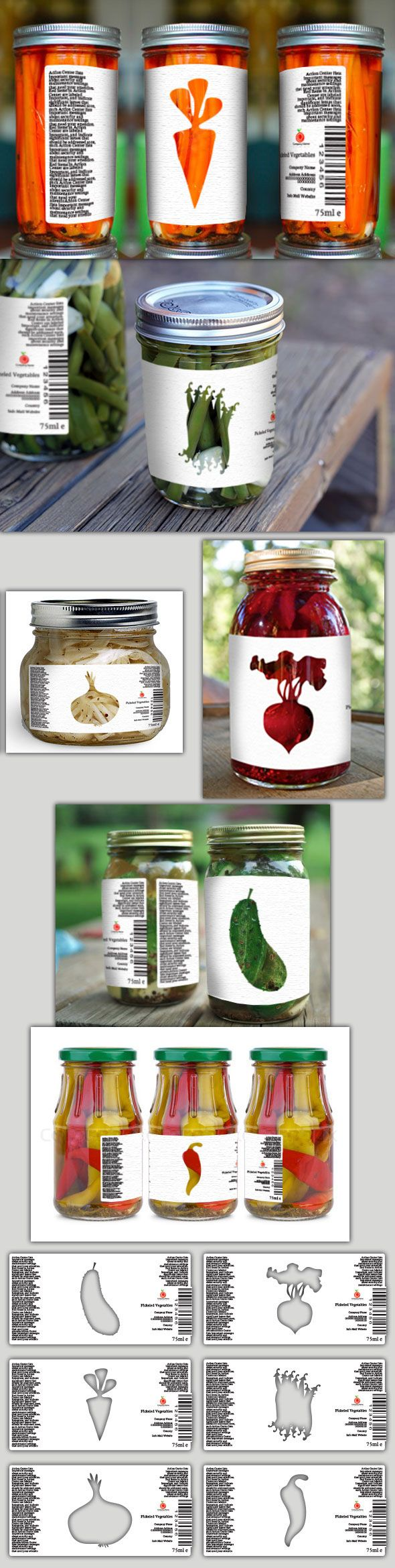 Transparent Labels on Behance