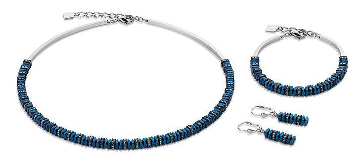 Swarovski haematite bright blue set 4777_0700 – coeur de lion jewellery
