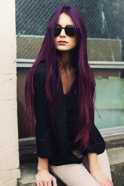 Popular Violet Red Hair Color Ideas 2014   Haircuts & Hairstyles for short long medium hair
