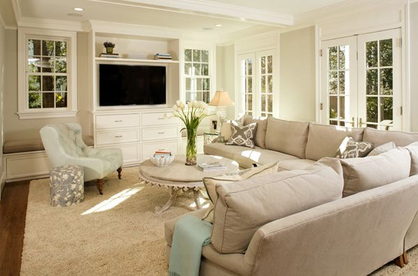 20 Living Room Layouts with Sectionals | Home Design Lover                                                                                                                                                     More