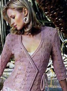 ПРОСТОЙ ЖАКЕТ С ЗАПАХОМ (Вязание спицами) | Журнал Вдохновение Рукодельницы