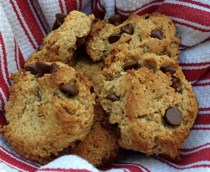 Paleo Chocolate Chip Scones, using: 2 T milled flax seeds 4 T ...