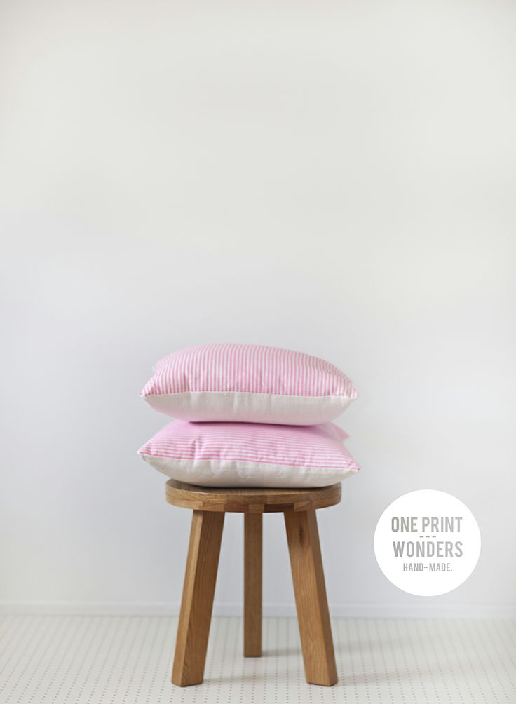 Candy stripe cushions. © One Print Wonders