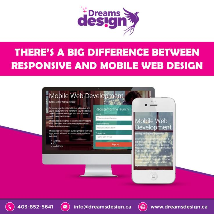 There's A Big Difference Between #responsive And Mobile Web Design. #webdesign #Website #Design #mobiledesign #WednesdayWisdom #Web