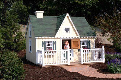 playhouse designs | DIY Playhouse Kits | Childrens Playhouse Kits | Cottage Plans