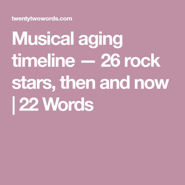Musical aging timeline — 26 rock stars, then and now | 22 Words