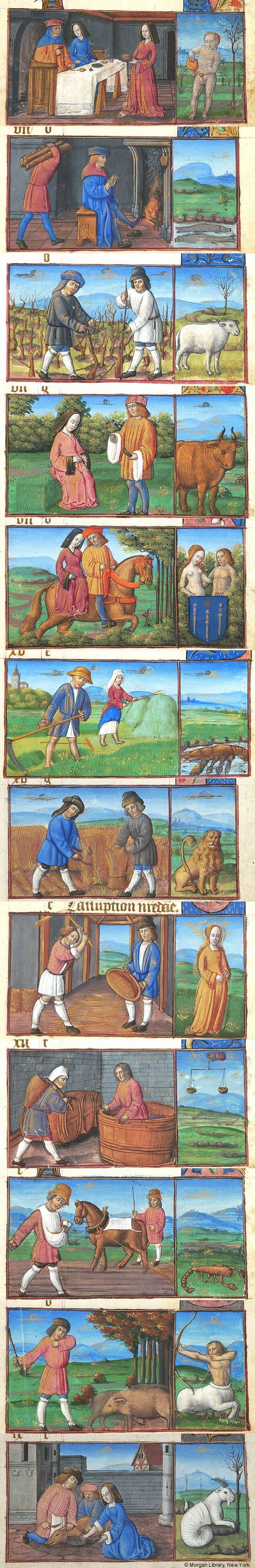 Signs of the Zodiac   Book of Hours   France, Langres   1495-1500   The Morgan Library & Museum