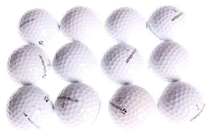 TaylorMade Penta Pearl Grade Balles Récupérées (36 Balles de Golf)