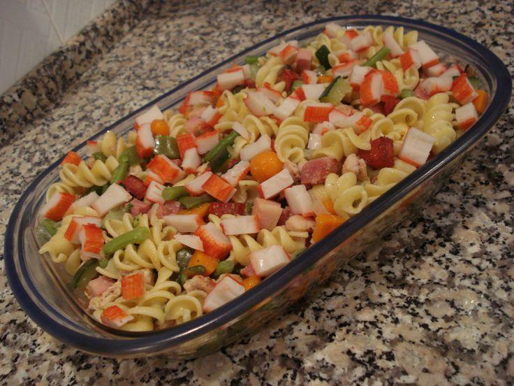 Salada Fria de Massa, Legumes e Frango