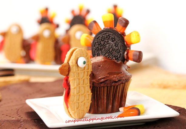 Thanksgiving Turkey Cupcakes #blogherholidays #thanksgiving