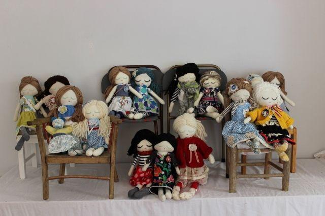 Group shot of my latest dolls : )