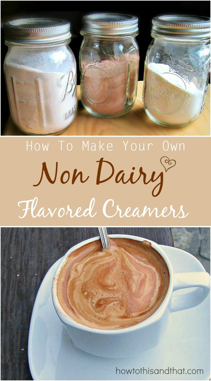 DIY,  Dairy Free, How To Make Your Own Non Dairy Flavored Coffee Creamers . Easy and inexpensive. mocha, pumpkin spice, vanilla and more