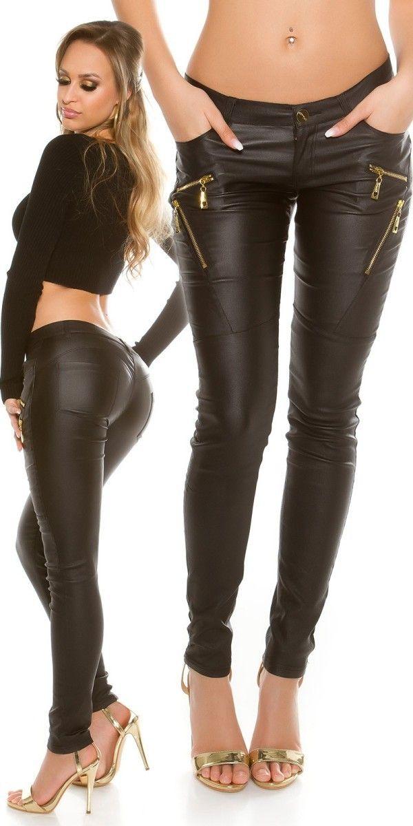 Legínové kalhoty černé