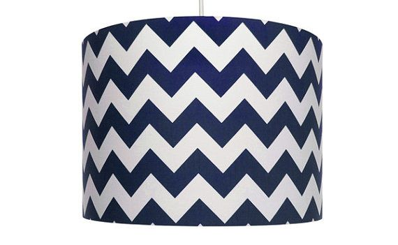 Navy blue and White Chevron Fabric Riley Blake Cotton Drum
