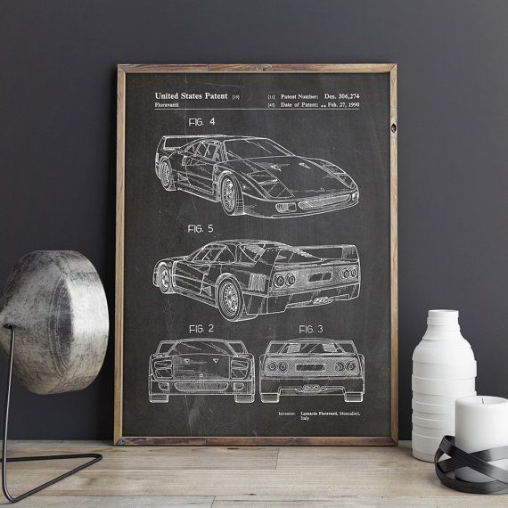 Best Car Art Car Posters Garage Decor Images On Pinterest - Best sports cars for teens