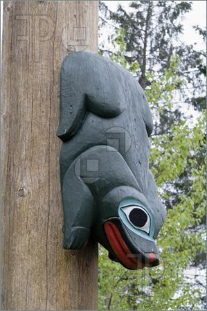 Frog-Totem-Pole-Saxman-Native-Village