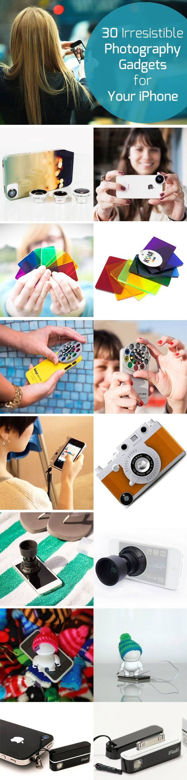 30 Irresistible Photography #Gadgets for Your #iPhone photodoto.com/...