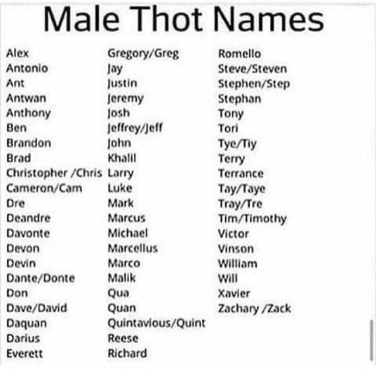 Thot names lol