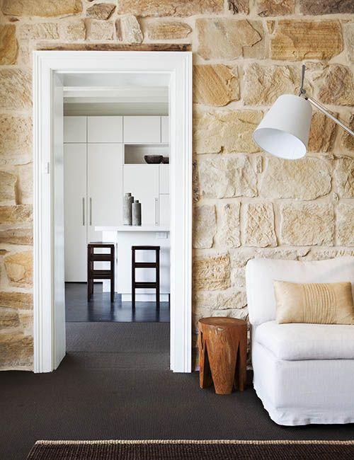BALMAIN WHARF APARTMENTS | alwill  #interiors #sandstone #livingroom #kitchen #neutral