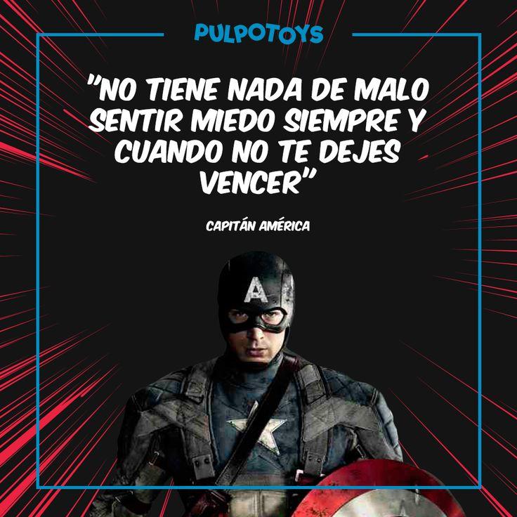 """Capitán América """"No tiene nada de malo sentir miedo siempre y cuando no te dejes vencer"""""""